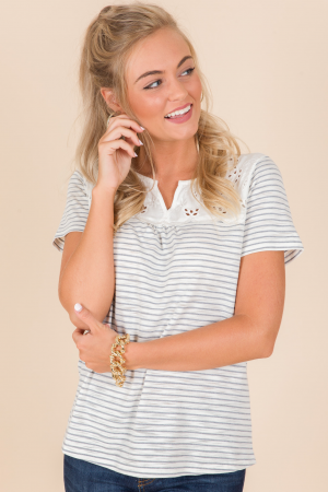 Cameo Striped Top