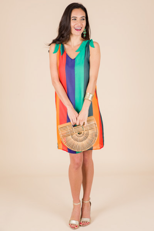 Harvest Rainbow Tank Dress