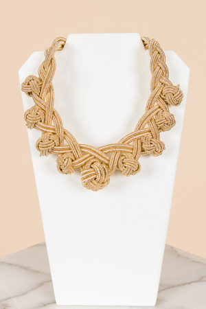 Thick Braided Knots Necklace