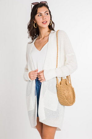 Spring Time Cardi, Off White