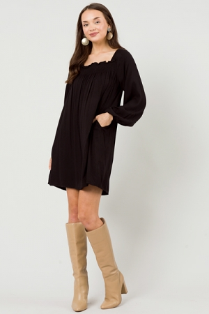 Straight Shot Dress, Black