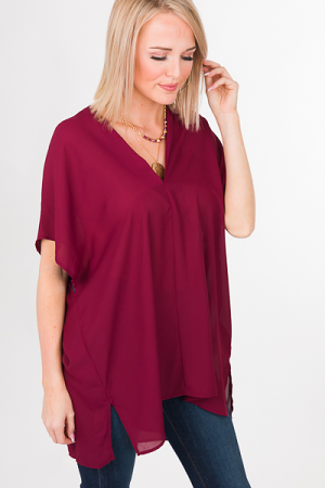 Vindrienne Tunic, Burgundy