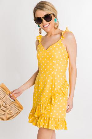 Lemon Dots Sundress