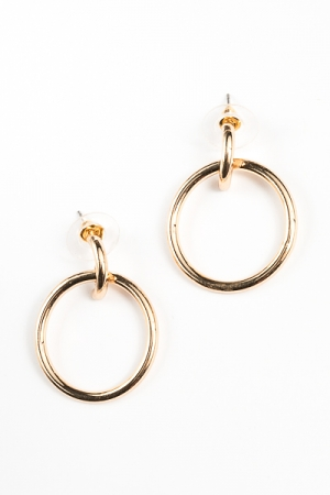 Circle Dangle Earring, Gold