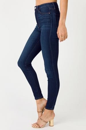 Soft Hi Rise Skinny Jeans, Dark