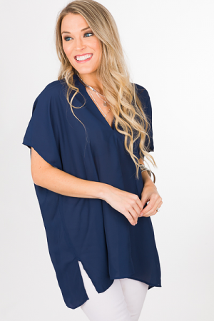Vindrienne Tunic, Navy