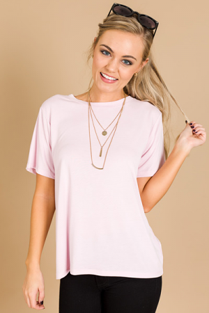 On Repeat Tee, Light Pink