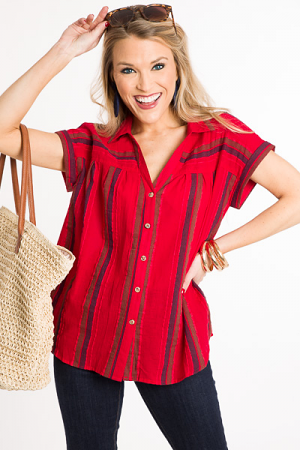 Tomato Stripes Top