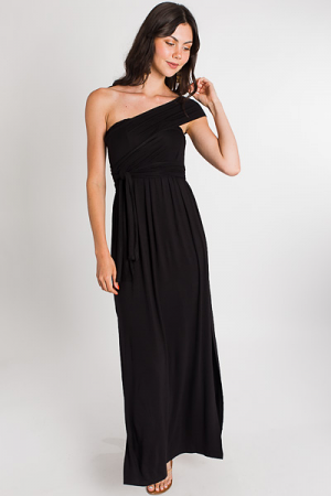 Multi Way Knit Maxi, Black