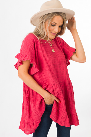 All the Texture Tunic, Rose