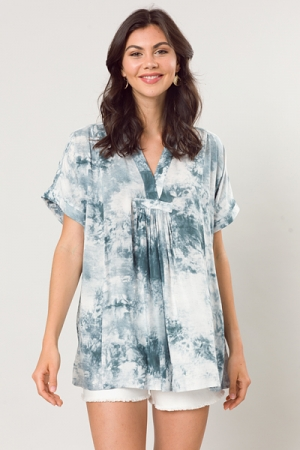 Dyed Dream Tunic, Faded Teal