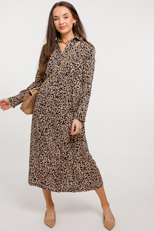 Belt It Leopard Midi