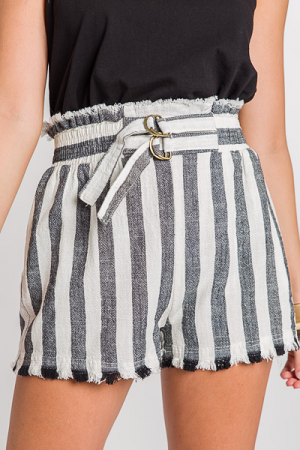 Cafe Stripe Shorts