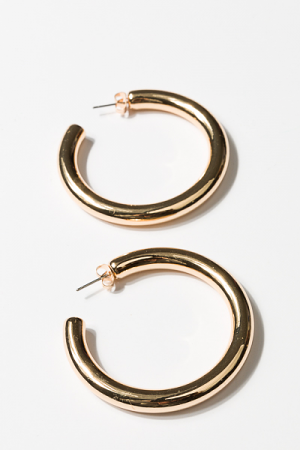 50mm Tube Hoops, Gold