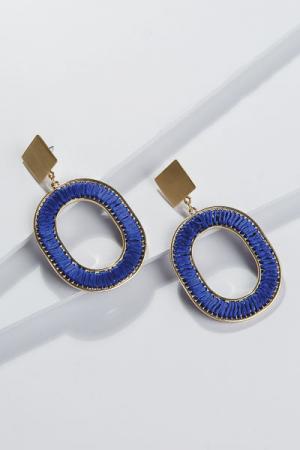 Oval Thread Earring, Royal