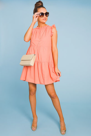 Cantaloupe Tiered Dress