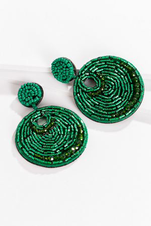 Green Light Disc Earring