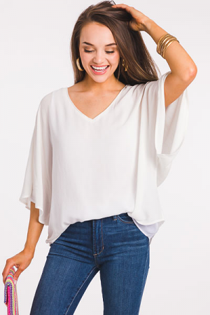 Light As Air Blouse, Ivory