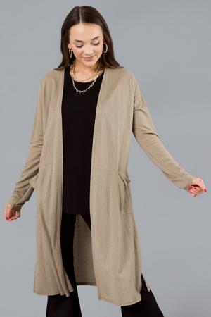 Essential Long Cardigan, Linen