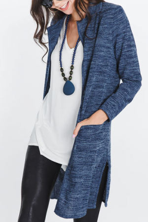 Dana Collared Duster, Denim