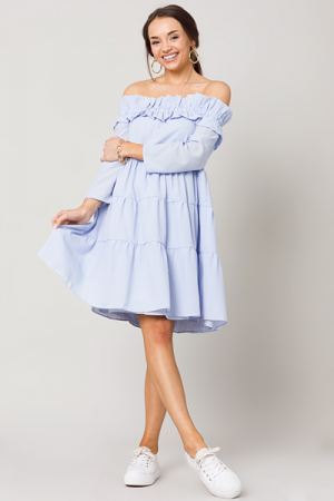 Avery Dress, Powder Blue
