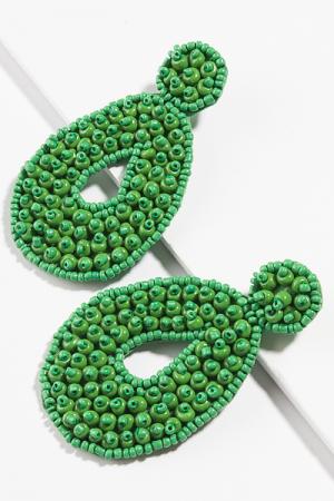 Bubble Bead Earring, Green