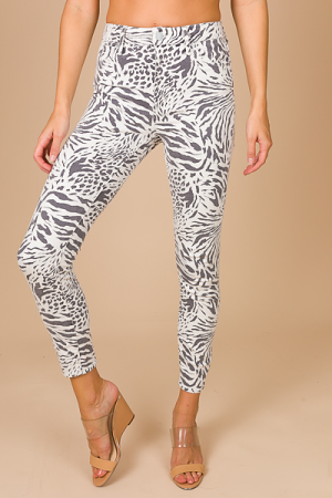 Printed Jeans, White