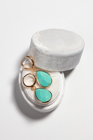 Hanging Drop Earring, Turquoise