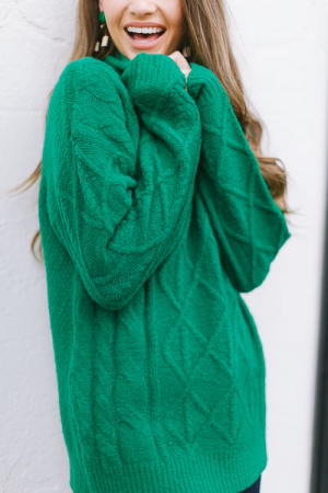 Fields of Green Cable Sweater