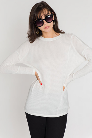 Magnolia Ribbed Tunic, Off White