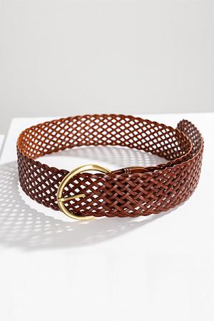 Essential Woven Belt, Brown