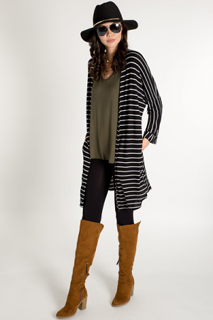 Striped Thermal Duster
