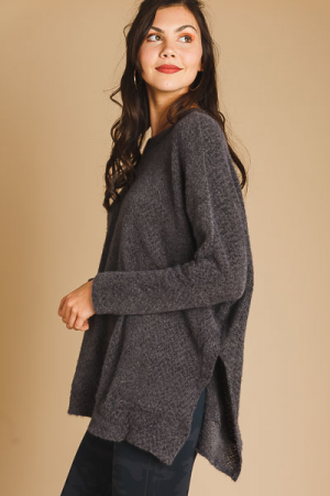 On Your Side Soft Tunic, Grey
