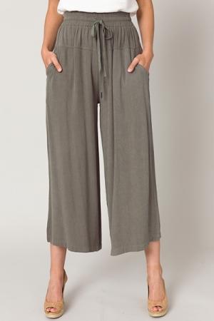 Micah Wide Leg Pants, Olive