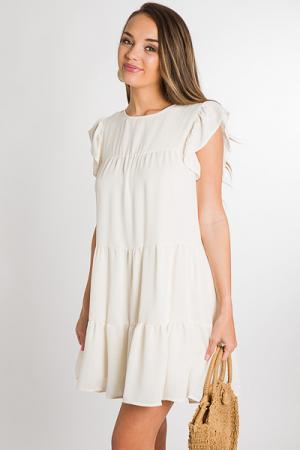 Gina Dress, Cream
