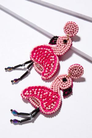 Bubblegum Flamingo Earring