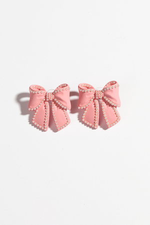 Perfect Pink Bows Earring