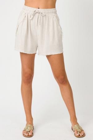 Logan Linen Shorts, Oatmeal