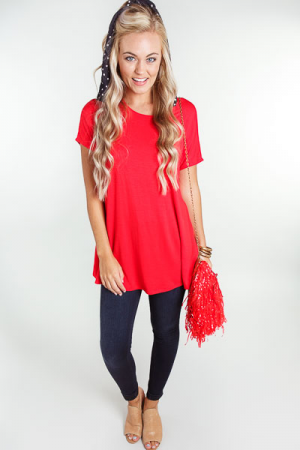 Go-To Tunic, Red