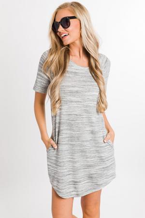Side Lines T-Shirt Dress