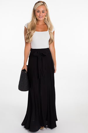 Tia Maxi Skirt, Black