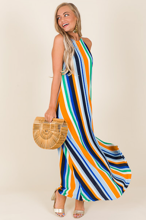 Sunset Blvd Halter Maxi