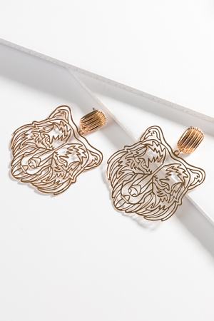 Filigree Tiger Earrings