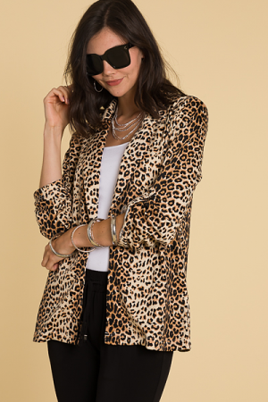 Knit Cheetah Blazer