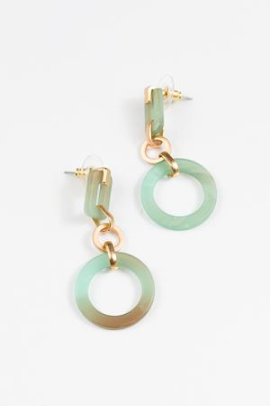 Acrylic Rectangle Earring, Turquoise