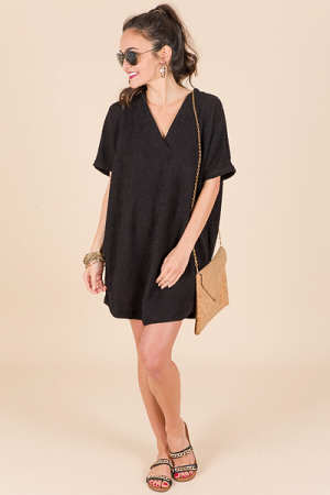 Fluffy Tunic, Black