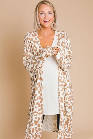 Soft Cheetah Cardigan