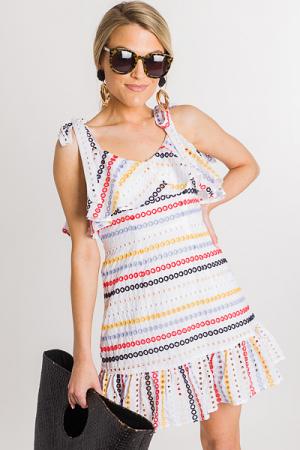 Brantlee Embroidered Dress