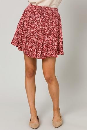 Spot Me Skirt, Crimson