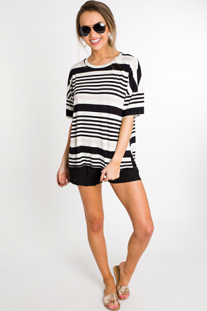 Neutral Stripe Tee
